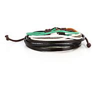 Vilam® Vintage Multicolor Handmade Woven Leather Bracelet