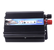 HOT-A1-00007 500W Car Vehicle USB DC 12V to AC 220V Power Inverter Adapter Converter (Black)