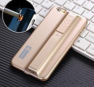 cigarette fonction léger cas de téléphone portable shell couvercle de la batterie pour la pomme iPhone6 plus / 5.5inch (couleurs