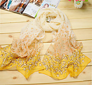 Women's Casual Chiffon/Polyester Summer Leopard Print Thin Scarves