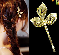 New Coming Gold Plated Cheap Clover Shape Women Hair Pin