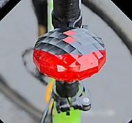 Jewel Shaped 7-Mode 5-LED Red Light Bike Laser Tail Lamp (Black  +Red)