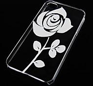 rosa fondello trasparente modello per iphone4 / 4s