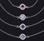 Fashion Silver Plated Anklets Party/Daily/Casual 1pc (Mini-Color)