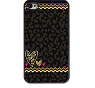 Leopard Print Design Aluminum Hard Case for iPhone 4/4S