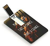 Oportunidade desejo 16gb e flash drive mudança design de cartão usb