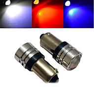 2 Stück ding yao Dekorativ Lichtdekoration BA9S 1.5 W 100-200 LM K 1 COB Kühles Weiß/Rot/Blau DC 12 V