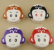 Cartoon Monkey Candy Color Plastic Cantact Lens Case (Random Color)