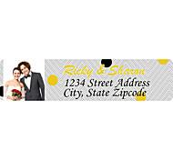 rótulos de produtos personalizados / etiquetas de endereço padrão de mancha de papel filme 140pcs / set