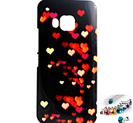 Flying Heart Pattern TPU Back Cover Case and Dust Plug for HTC M9