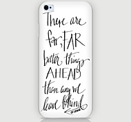 Personality in English Pattern Phone Back Case Cover for iPhone5C