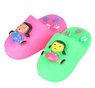 Squeak Girl Pattern Rubber Slipper Toy for Dogs Cats(1pcs/Random Color)