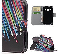Shooting Stars PU Leather Case Cover with Stand and Card Slot for Samsung Galaxy Xcover 2 S7710