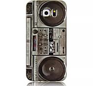 oi-q padrão decalques água rádio do vintage em TPU macio para Samsung Galaxy S6