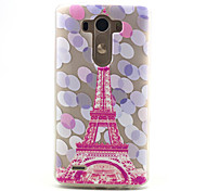 Pink Tower Pattern Relief TPU Soft Back Cover for LG G3