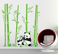Wall Stickers Wall Decals, Cartoon Panda Forest PVC Wall Stickers