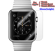 3in1 Premium HD Glossy Clear LCD Screen Protector Flim with Cleaning Cloth Set for Apple Watch 42mm Watch Sport