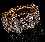 Luxurious Diamond Big Aolly Gold Bracelet For Women Lades Bridal Birthday GIft Party Beach Wedding Dance