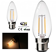 ONDENN B22 2 W 2 COB 200 LM 2800-3200K K Warm White A Dimmable Candle Bulbs AC 220-240/AC 110-130 V