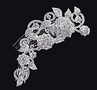 Rose style Women Alloy Hair Combs With Cubic Zirconia Wedding/Party Headpiece