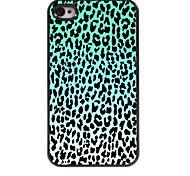 Blue Leopard Print Design Aluminum Hard Case for iPhone 4/4S