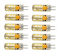 10 stuks G4 1.5 W 24 SMD 3014 100-120 LM Warm wit / Koel wit T Maïslampen AC 12 V