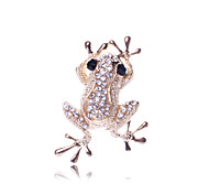 European and American fashion personality exaggerated lovely frog a diamond brooch broochaily