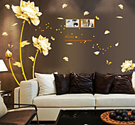Chinese Style Flowers of Wealth PVC Wall Stickers Wall Art Decals