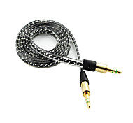 Mâle 3 pieds 3.5mm câble audio auxiliaire sans enchevêtrement de sexe masculin pour Apple iPad iPhone iPod Samsung Galaxy mp3 couleur