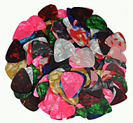 sottile 0,46 millimetri Guitar Picks plettri celluloide colori assortiti 100pcs-pack