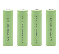 2800mAh 3.7V 18650 Rechargeable Lithium Ion Battery (4pcs)