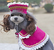 New and Fashionable the Anna Princess Suit (Cloak and Hat) Specially Design Clothes For Pets Dogs