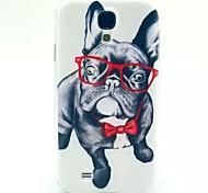 patrón gafas perro TPU suave para mini i9190 Samsung Galaxy S4