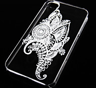 Plant Pattern Transparent Back Case for iPhone4/4S