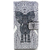 Elephant  Pattern PU Leather Case with Magnetic Snap and Card Slot for Wiko Rainbow