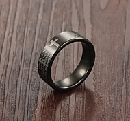 Cross the Scriptures Religious Tungsten Steel Ring