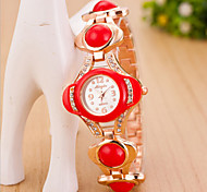 Women's Round Dial Case Alloy Watch Brand Fashion Quartz Watch(Move Color AVail Able)