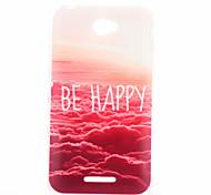 rosso modello nuvola materiale TPU soft phone per sony xperia e4