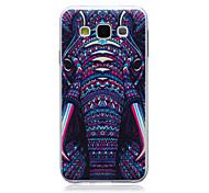 Elephant Pattern TPU Material Phone Case for Samsung Galaxy E5