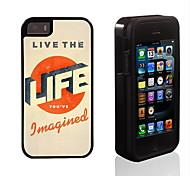 Leben in 2 in 1 Design Hybrid Rüstung Ganzkörper-Dual-Layer-Schock-Schutz schlanke Fall für iPhone 5/5 s leben