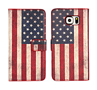 магия spider® Америка флаг шаблон бумажник PU Полный чехол корпус с экраном Protecto для Samsung Galaxy S6