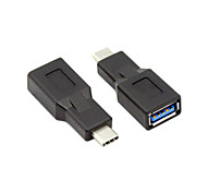 USB 3.1 Type C Male Connector to A Female OTG Data Host Adapter Black for Macbook Tablet & Chromebook