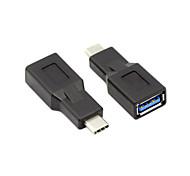 USB 3.1 Type C Разъем для женского OTG принимающей данные адаптера черный для MacBook таблетки& Chromebook
