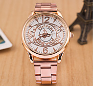 Women's Round Dial Case Alloy Watch Brand Fashion Quartz Watch