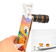 Apexel Universal Clip 4 in 1 Lens Kit 8X Telephoto Lens +Wide-angle+Macro Lens +Fisheye Lens for Samsung phones
