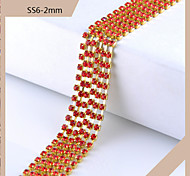 SS6 2mm Rhinestone DIY Claw Chain Dilute Claw Chain(1M,Assorted Color)