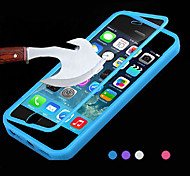 BIG D Touch View TPU & Silicone Flip Cover for iPhone 5C(Assorted Color)