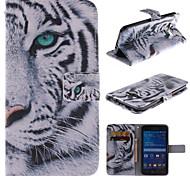 conception de tigre blanc cuir PU cas de tout le corps avec support et fente pour carte pour Samsung Galaxy grande Premier G530 g530h