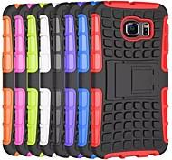 Reifenwellenmuster TPU Tasche mit Halter für Samsung-Galaxie s6 Rand