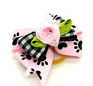 Dog Hair Accessories Spring/Fall - Pink Mixed Material